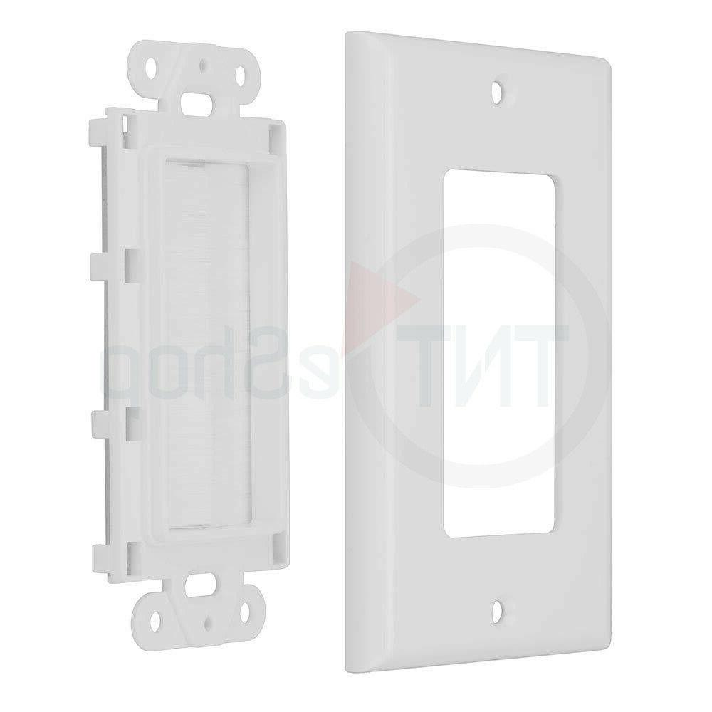 single brush wall plate cable pass through