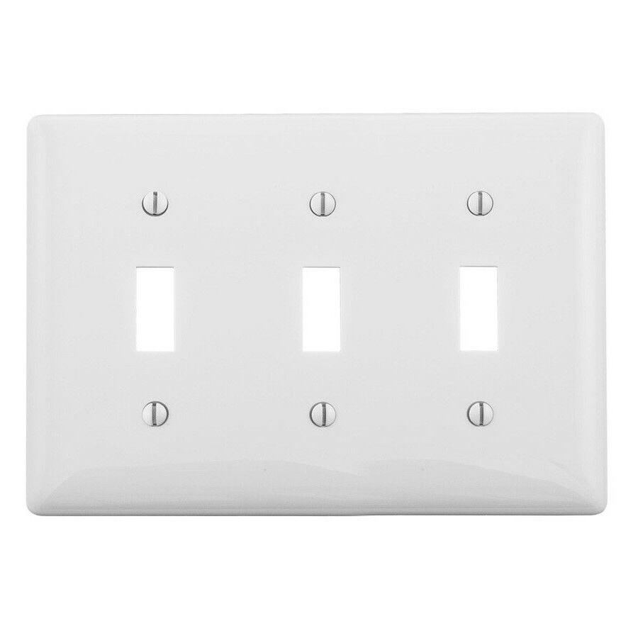 Single Double Triple Gang Toggle Light Wall White 2, 3,