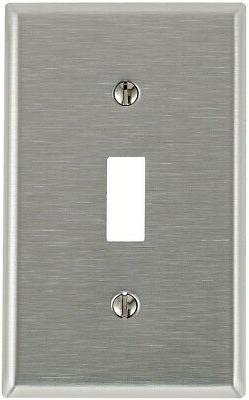 Leviton Single Gang Stainless Steel Single Toggle Wallplate