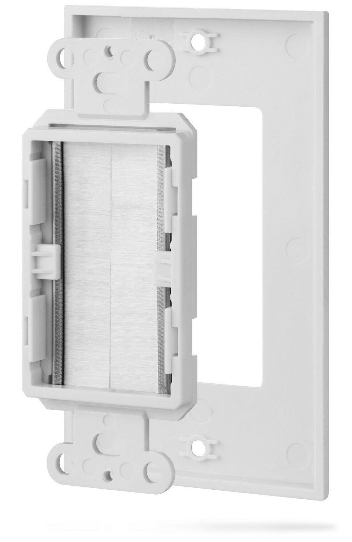 Single Wall Plate Brush Style Voltage Flush Organize