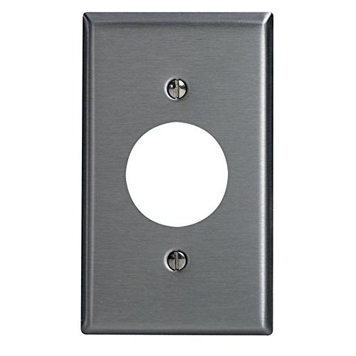 single stainless steel wall plate