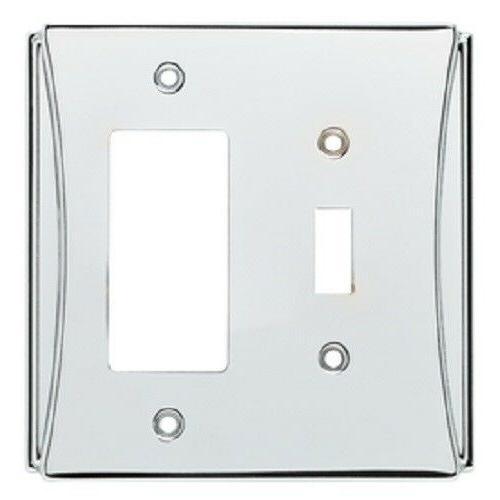 Single Switch Decorator Chrome Upton Wall Plate Brainerd W35