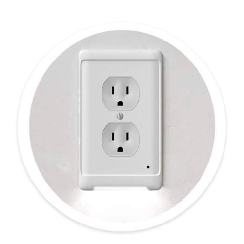 guide light outlet wall plate with led