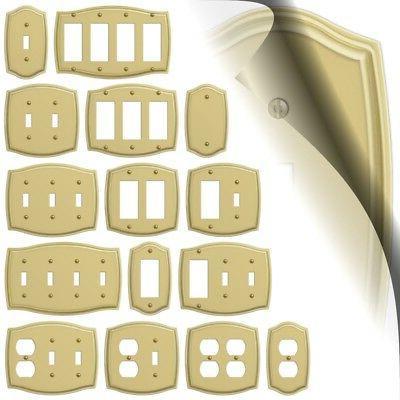sonoma polished brass switch plate toggle rocker
