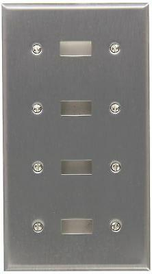 Stainless Steel Metal Wall Plates 4 Gang Toggle Switch