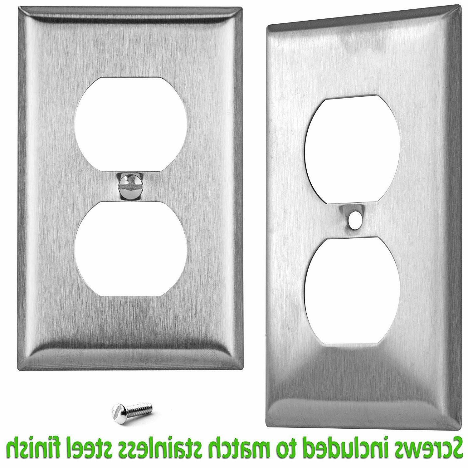 ENERLITES Outlet Wall Plate Stainless