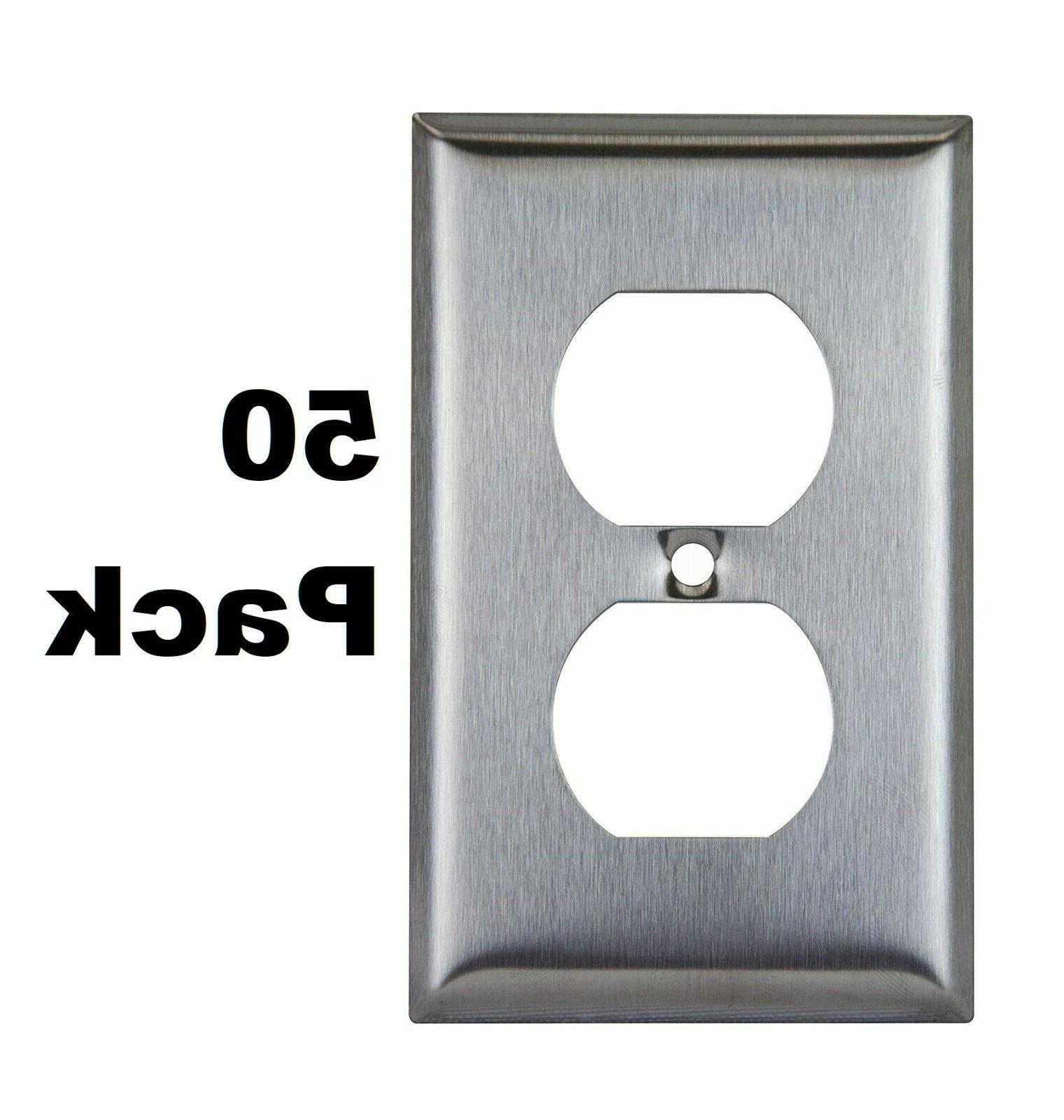 stainless steel outlet cover 1 gang duplex
