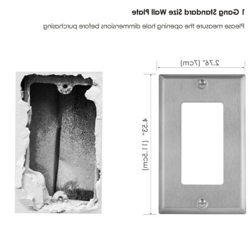 10PK Steel Plate Gang Switch Metal Covers