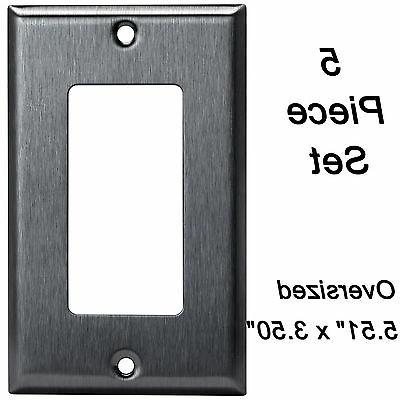 stainless steel oversized wall plate 1 gang