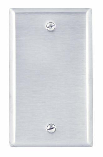 Leviton Stainless Steel Single Gang Blank Box Mount 003-8401