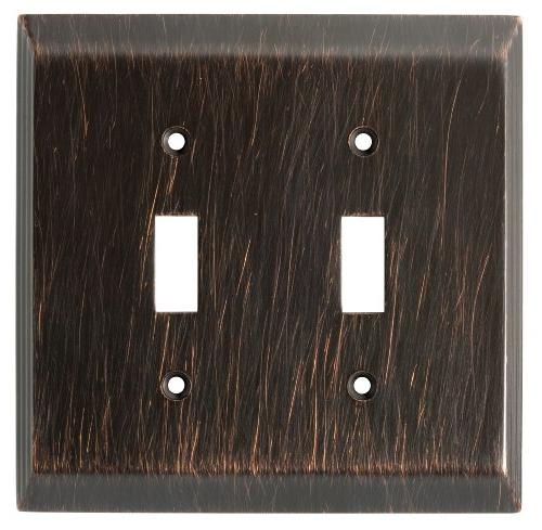 Brainerd Stately Double Switch Wall Plate, Venetian Bronze