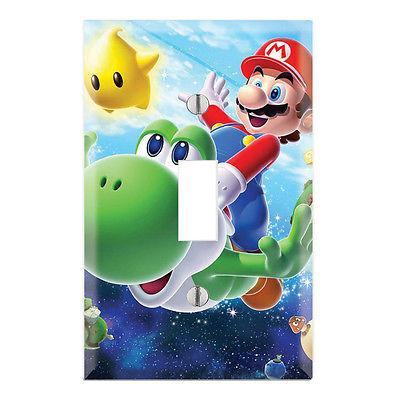 Super Mario Galaxy Decorative Single Toggle Light Switch Wal