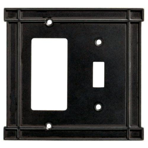 Switch Decorator Wall Plate Black Soft Iron Brainerd 144074