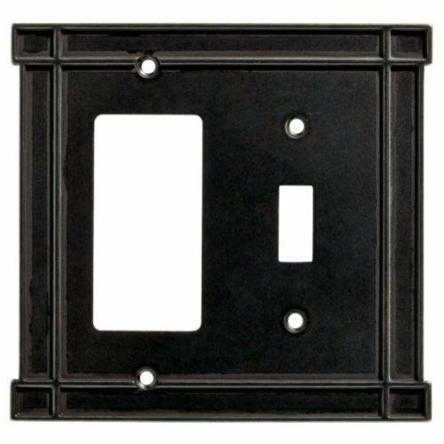Switch Decorator Wall Plate Black Soft Iron Brainerd 144074
