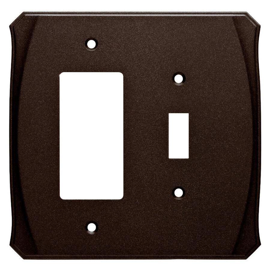 Switch Decorator Wall Plate Bronze Brainerd W34477