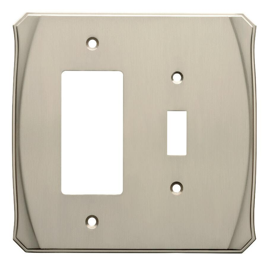 switch decorator wall plate nickel w34477