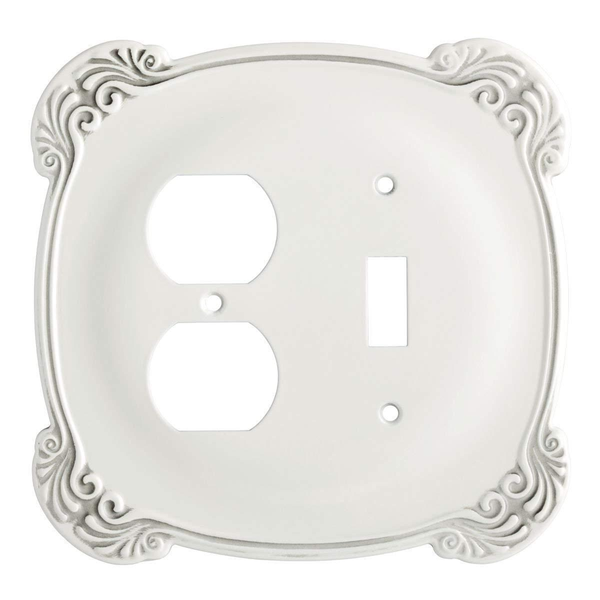 switch duplex wall plate white arboresque 144384