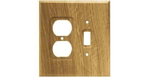Switch Duplex Wall Plate Wood Unfinished Brainerd 64677