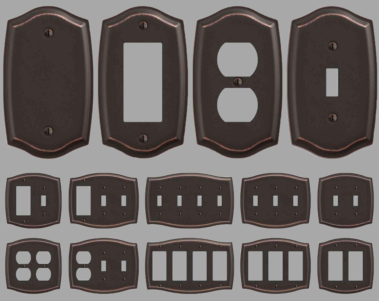 switch plate outlet cover rocker toggle light