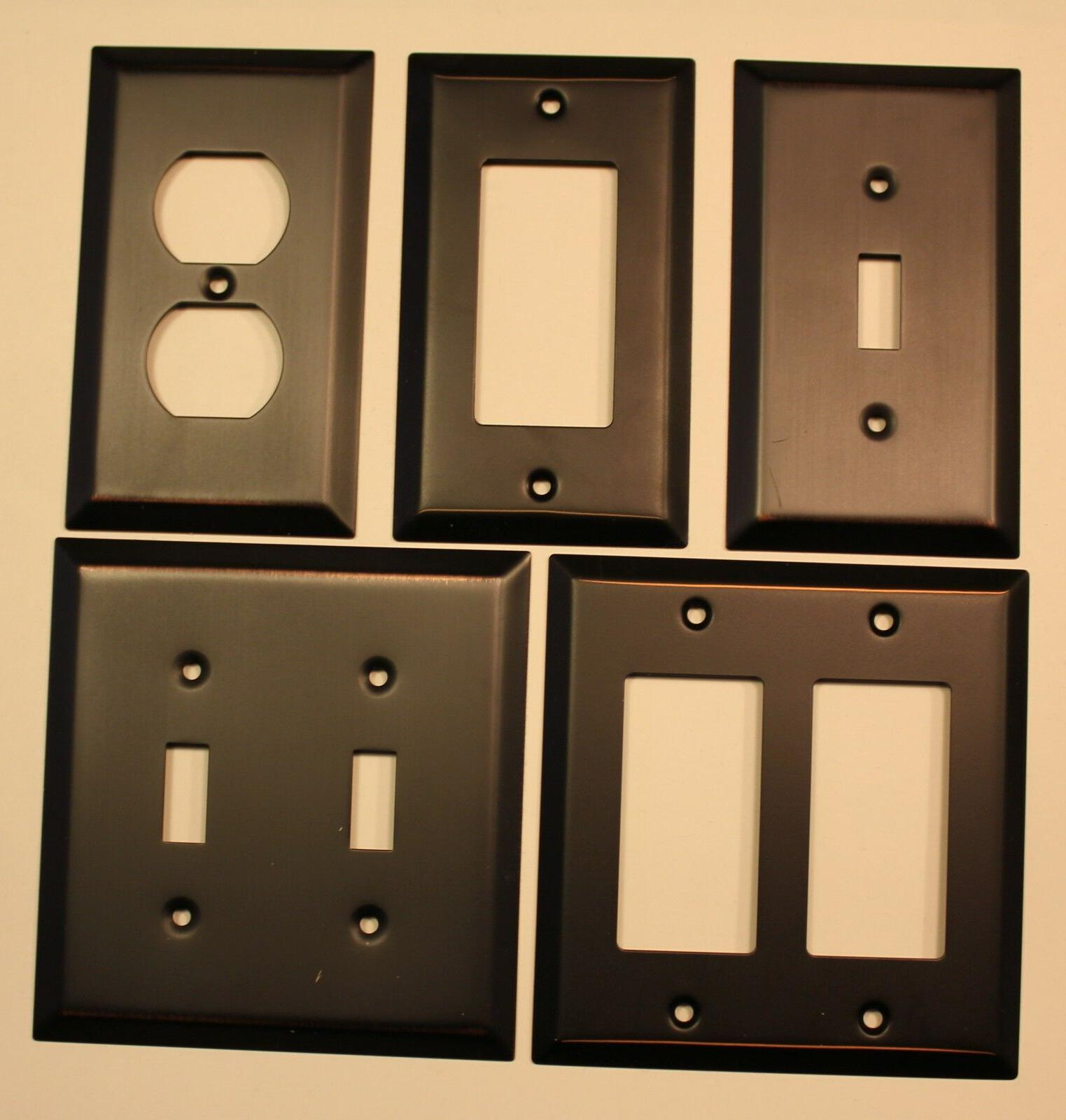Switch Plate Outlet Cover Wall Rocker Oil Rubbed Bronze Reta