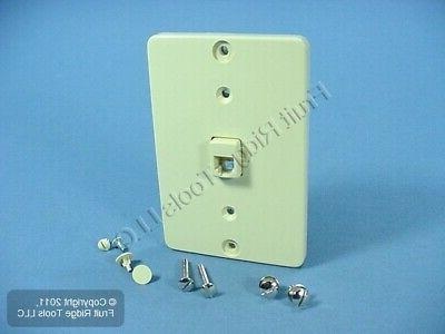 Leviton 40257-I Telephone Wall Phone Jack, Screw Terminal, I