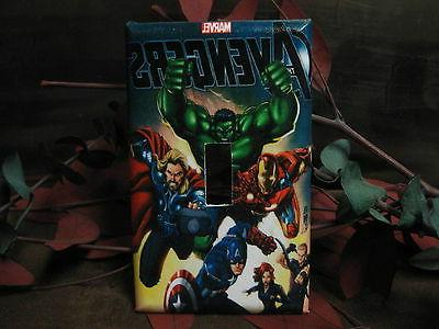 the avengers marvel light switch wall plate