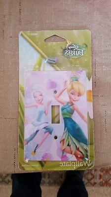DISNEY TINKERBELL LIGHT SWITCH WALL PLATE COVER FAIRES GIRLS