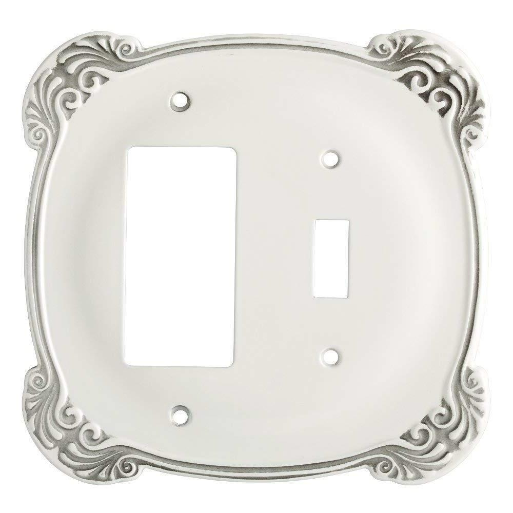 Toggle Decorator Wall Plate Arboresque White Franklin Brass