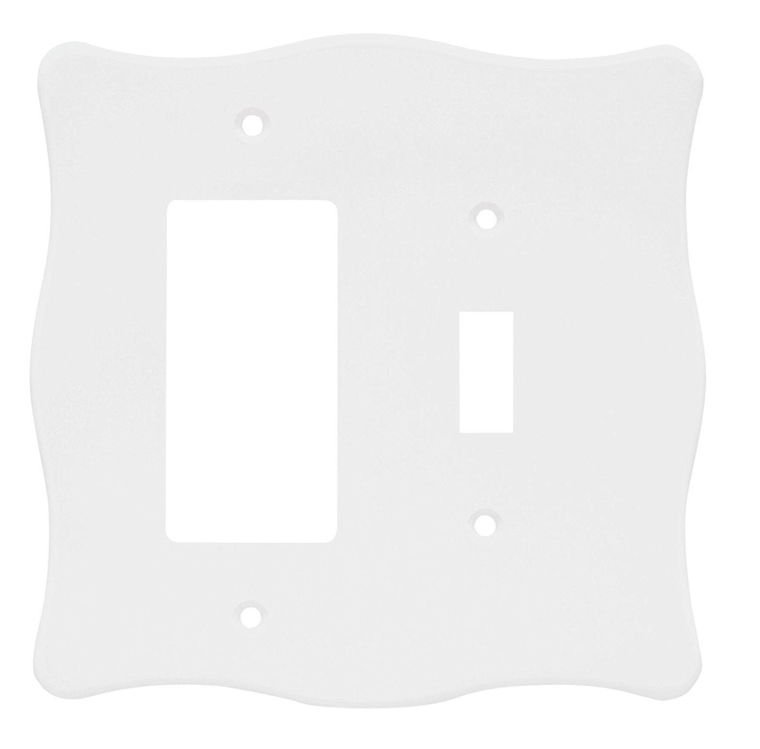 Toggle Decorator Wall Plate White Nylon Brainerd 64607
