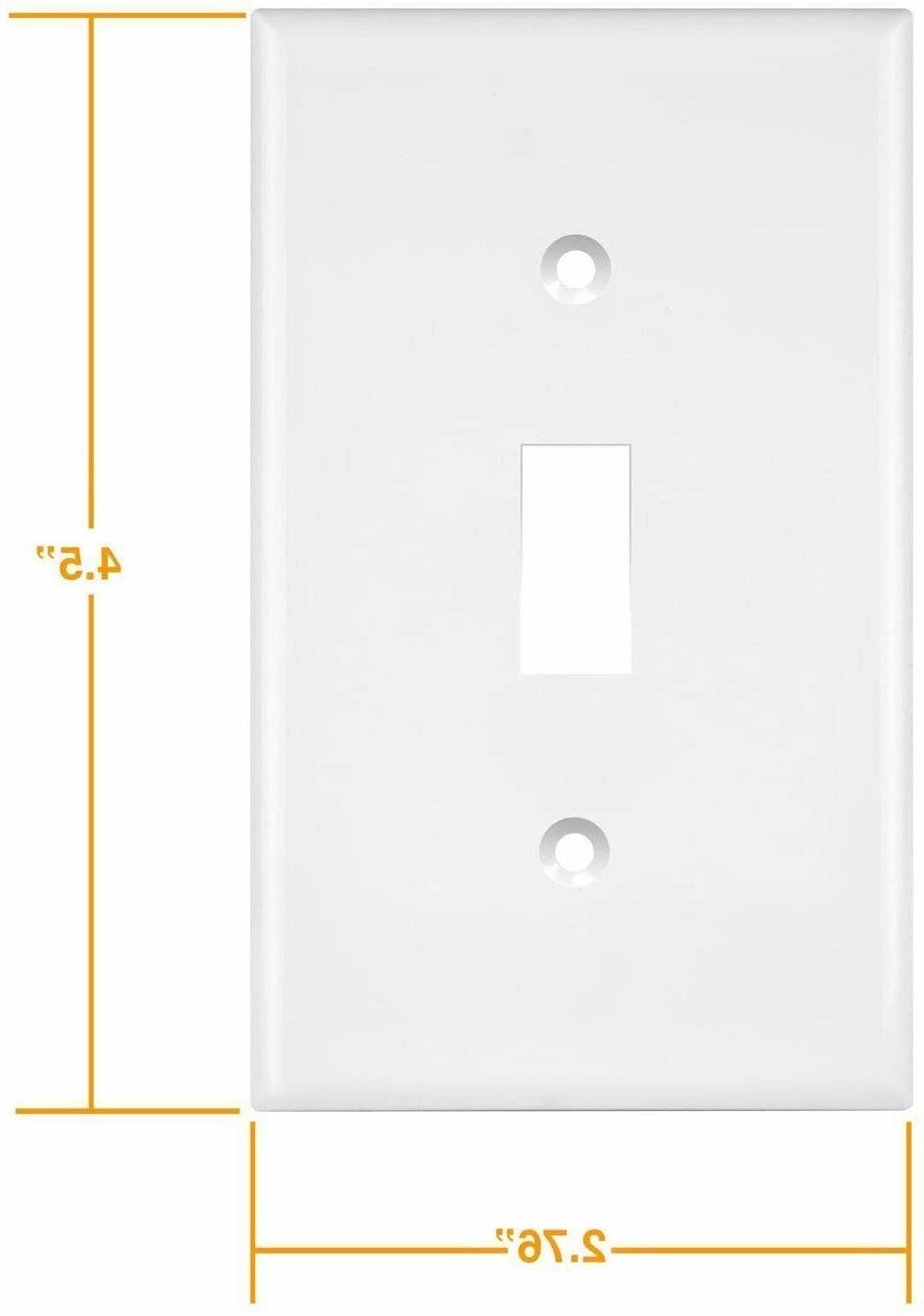 "ENERLITES Toggle Wall Plate, 4.50"" pack"