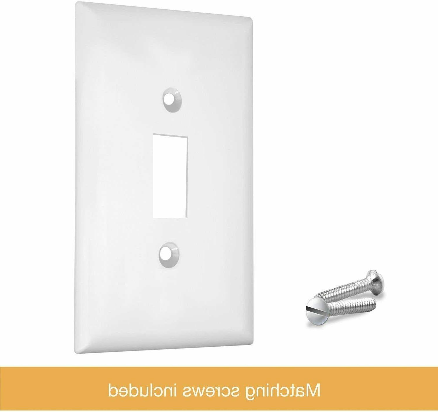 """ENERLITES Toggle Light Wall Plate, 1-Gang 4.50"""" x pack"""