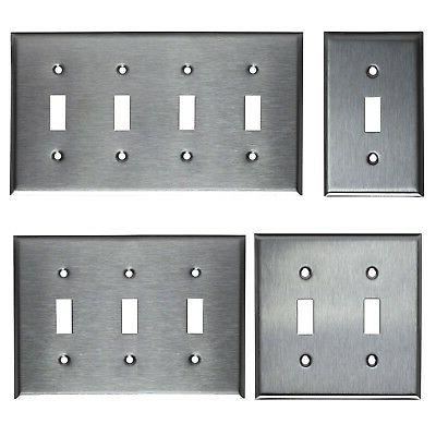 toggle switch stainless steel wall cover plate