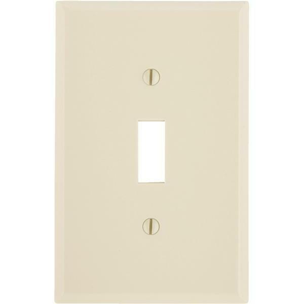 Toggle Switch Wall Plate, Leviton, 80501-I