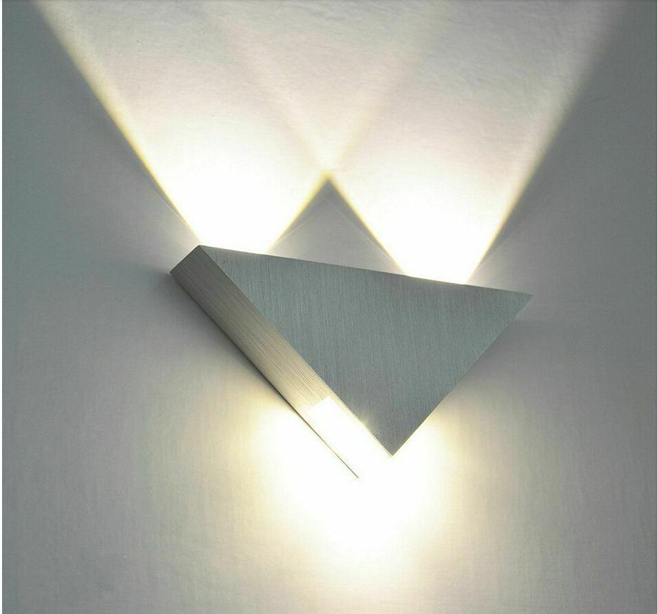 Triangle Lamp Led Bulb Home Bedroom Night Lovely Mounted
