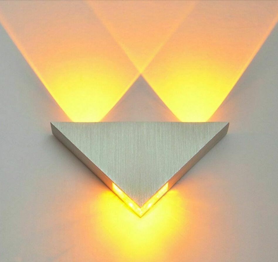 triangle wall lamp led bulb home bedroom