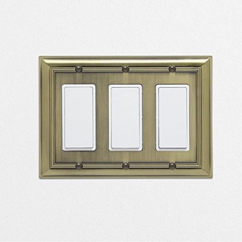 AmazonBasics Plate, Brass,