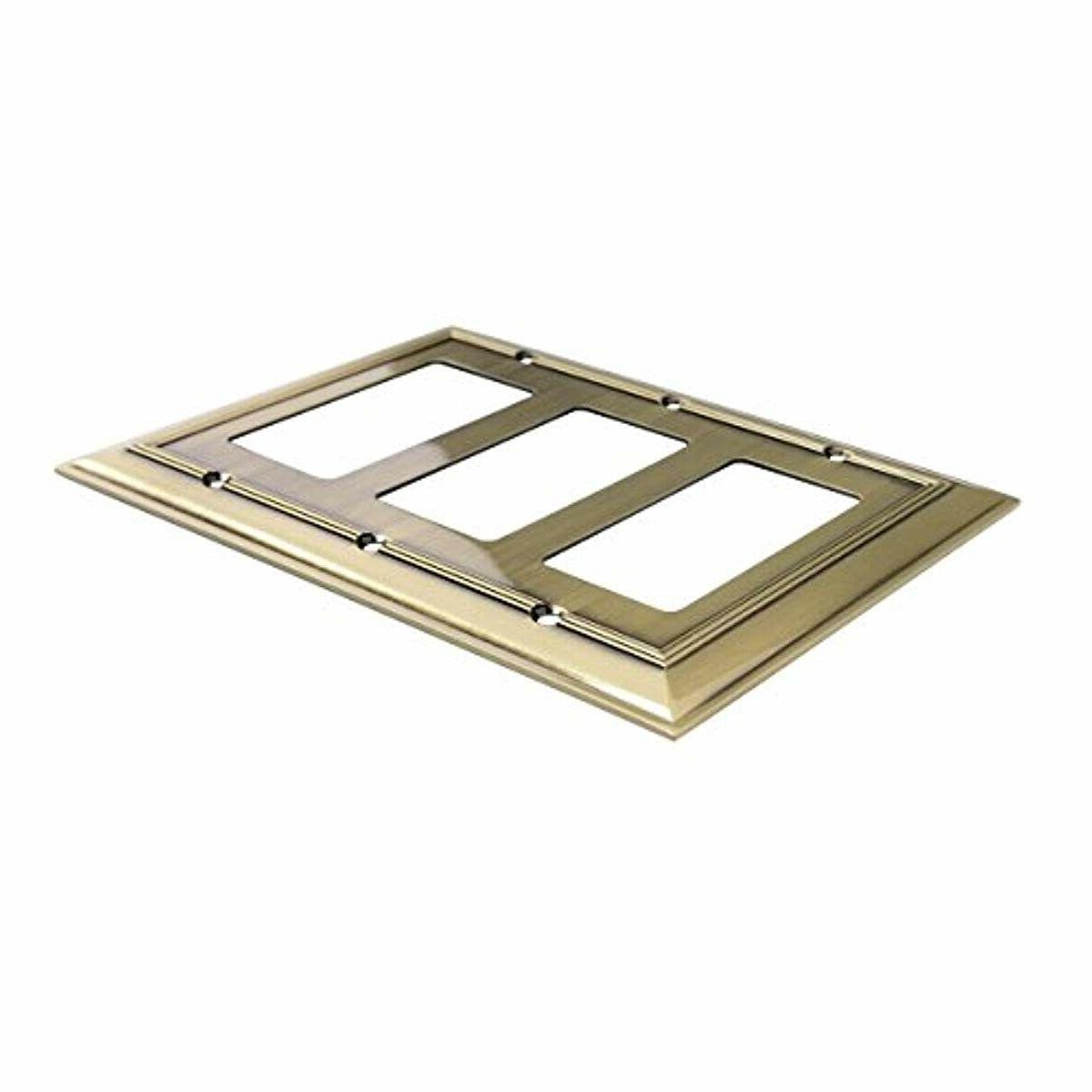 AmazonBasics Triple Plate, Brass, 1-Pack