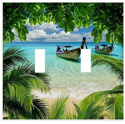 tropical beach ocean wall plate decorative light