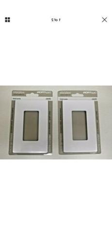 Two 2 New Sealed LUTRON Single Gang Claro Wall Plate White G