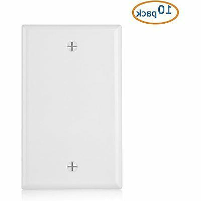 Cable Listed 10-Pack Plate White