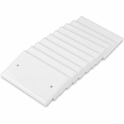 Cable UL Listed 10-Pack Blank Wall Plate Cover White