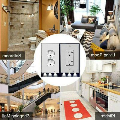5 Pack Duplex Plate Outlet Light Sensor