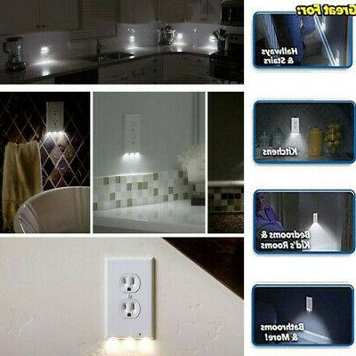 5Pc Outlet Cover w/ Night Light Sensor US