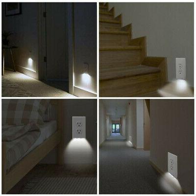 5 Pack Duplex Wall Plate Cover LED Night Lights Light Sensor