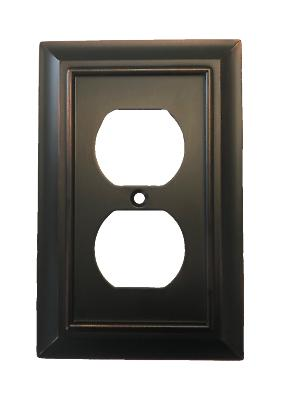 w10086 bzm architectural single duplex outlet cover