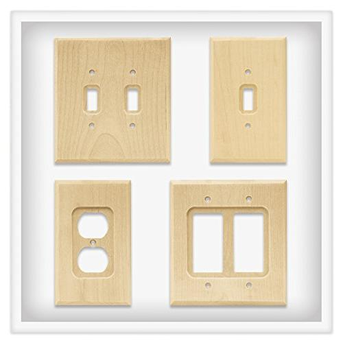 Franklin Brass W10848-UN-C Triple Decorator Plate/Switch Plate/Cover, Unfinished