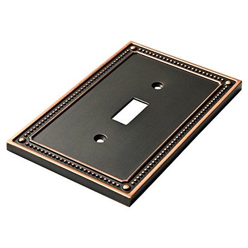 Franklin Brass Beaded single Switch Plate with