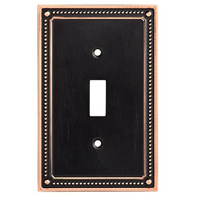 Franklin Classic Beaded Wall Switch Plate Cover, Bronze with