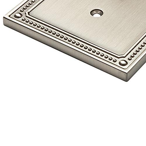 Franklin Brass Beaded Duplex Plate/Switch Nickel