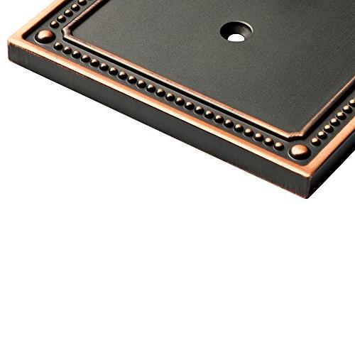 Franklin Classic Beaded single Wall Plate / with Copper